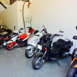 A few Mopeds ready to ride.