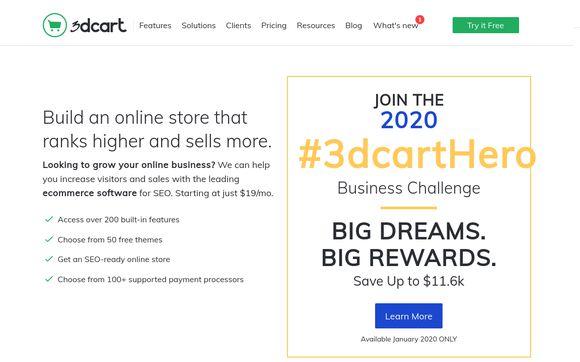 3dCart Shopping Cart Software