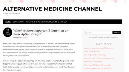 Alternative Medicine Channel