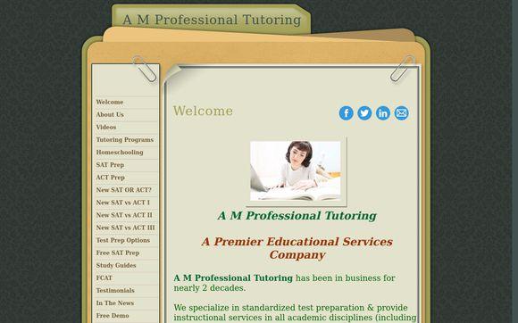 A M Professional Tutoring