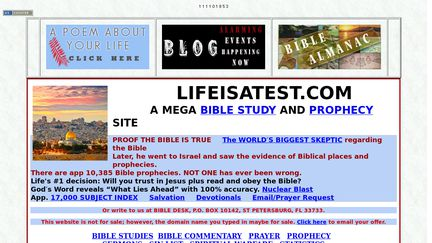 Mega site of Bible Information