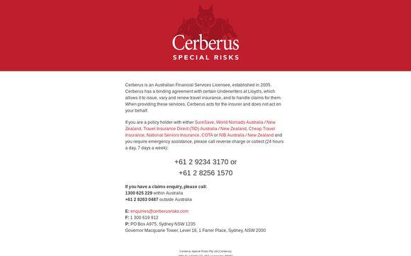 CereberussSpecialrRisks.com.au