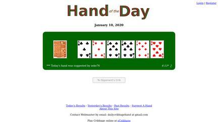 Dailycribbagehand.org
