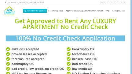 For Rent No Credit Check