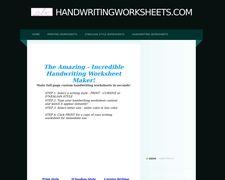 HandwritingWorksheets.com