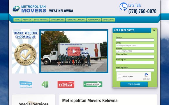 Metropolitan Movers West Kelowna.ca