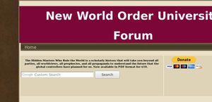New World Order University