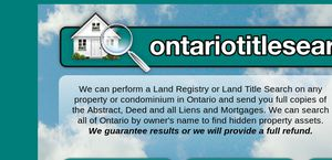 Ontariotitlesearch.ca