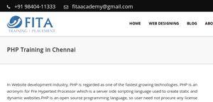 PHP Training In Chennai