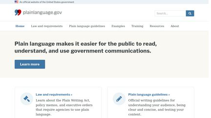 plainlanguage.gov