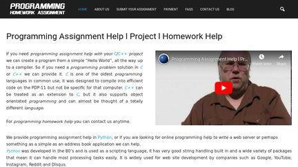 ProgrammingHomeworkAssignment
