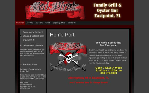 Red Pirate Family Grill & Oyster Bar In Eastpoint, FL