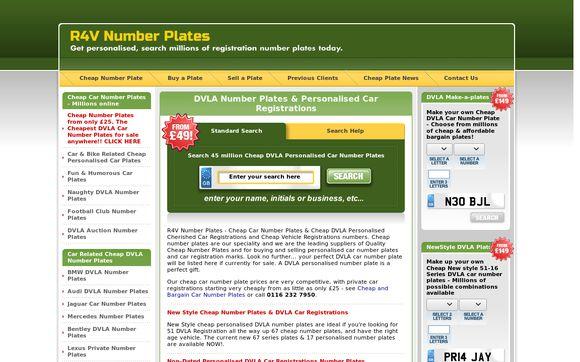 R4V Number Plates