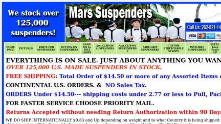 Mars Suspenders