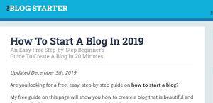 The Blog Starter