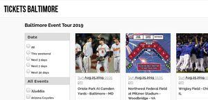 Baltimore Event Tickets Baltimore