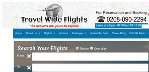 Travel Wide flights UK