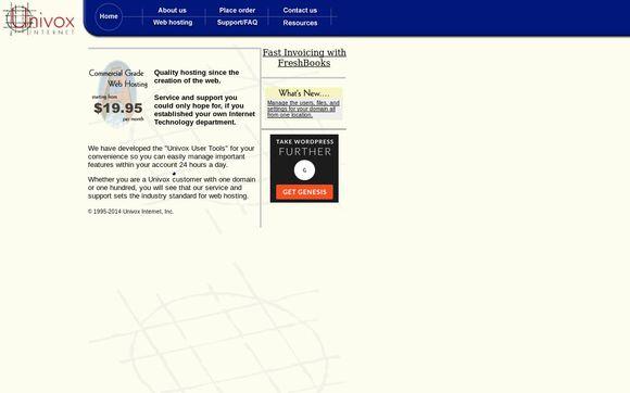 Univox web hosting