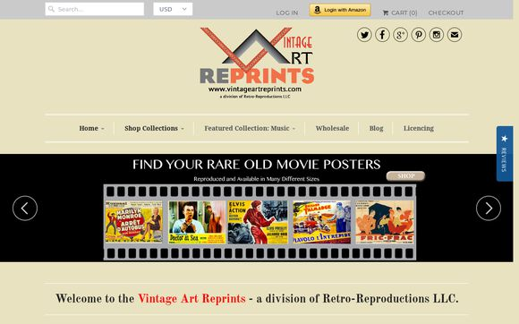 Vintage Art Reprints: retro movie posters from Europe, old photos and offset prints