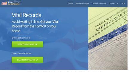 Vital Records Certificates