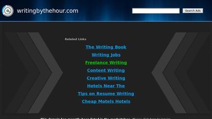 Writingbythehour.com